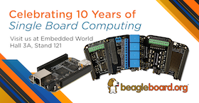 Join BeagleBoard.org at Embedded World 2019
