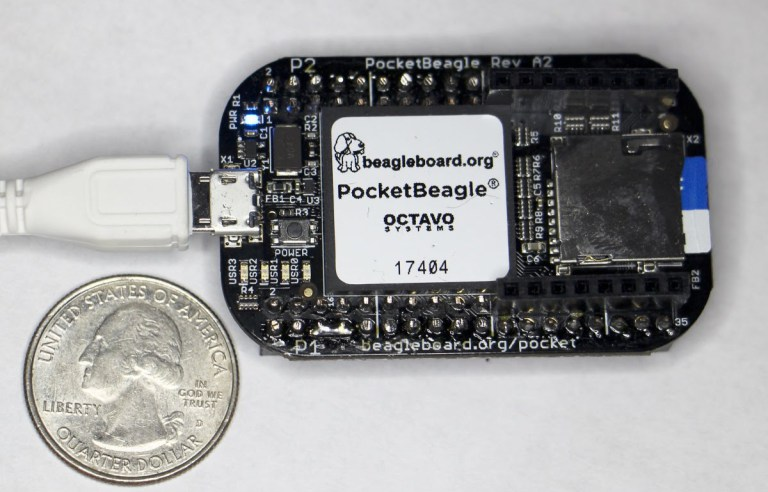 Ken Shirriff goes hands-on with the PocketBeagle