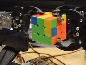 Tweeting Rubik's Cube Solver Robot image